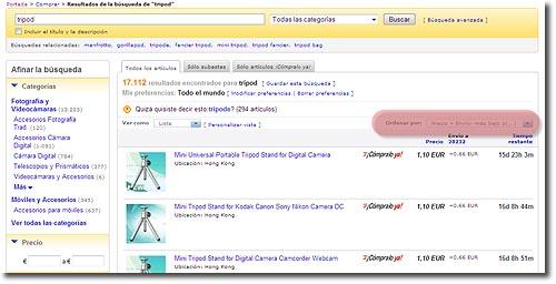 Tripodes en eBay