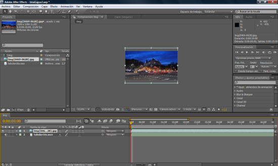 Adobe After Effects CS4 - Screenshot