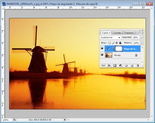Atardeceres y Amaneceres en Photoshop - Paso 6