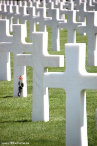 Consejos para hacer fotos de viajes - Cementerio americano de Normandia. Colleville-sur-Mer, Francia