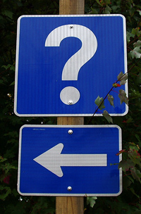 Question Mark and Arrow