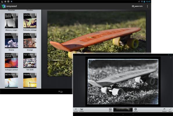 RawDroid y Snapseed: La Pareja Perfecta Para Sacarle El Mayor Partido Fotográfico a Tu Tablet