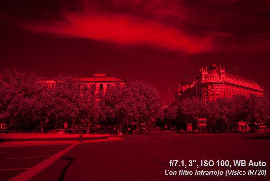 Con filtro infrarrojo. Sobreexpuesta +5EV - WB Auto