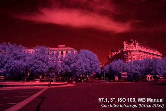 Con filtro infrarrojo. Sobreexpuesta +5EV - WB Manual