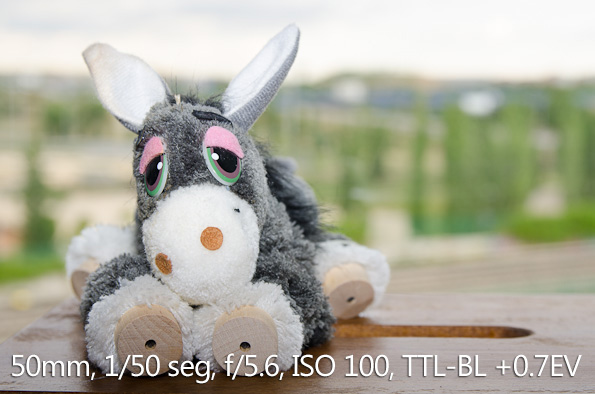 Modo TTL-BL +0.7EV