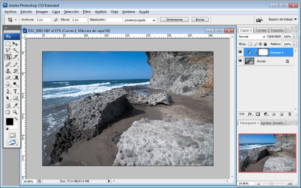 Foto para arreglar un horizonte caído