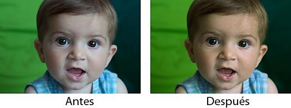Antes y después de ajustar el balance de blancos con Photoshop