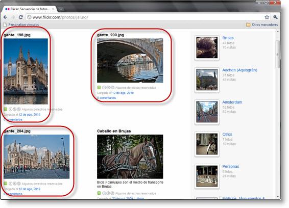 Cuenta flickr tras publicación desde Lightroom 3