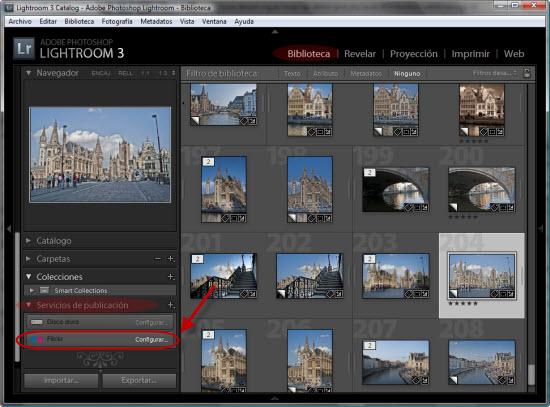 Integración con Flickr desde Lightroom 3 - Paso 1