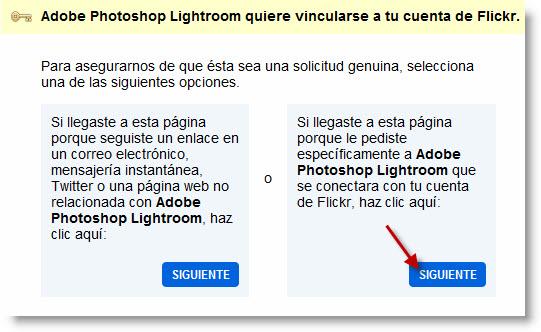 Integración con Flickr desde Lightroom 3 - Paso 3b