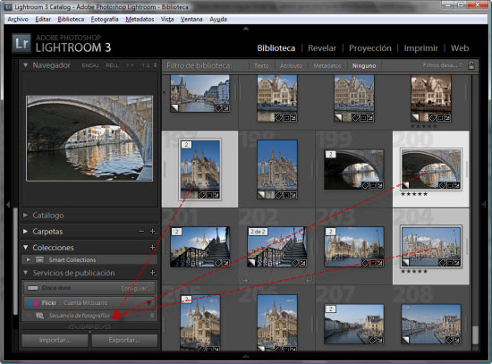 Publicando fotos en flickr desde Lightroom 3 - Paso 1