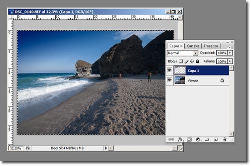 Cielo Polarizado Photoshop - Paso 2