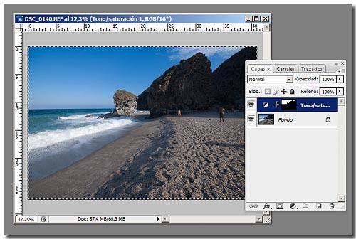 Cielo Polarizado Photoshop - Paso 8