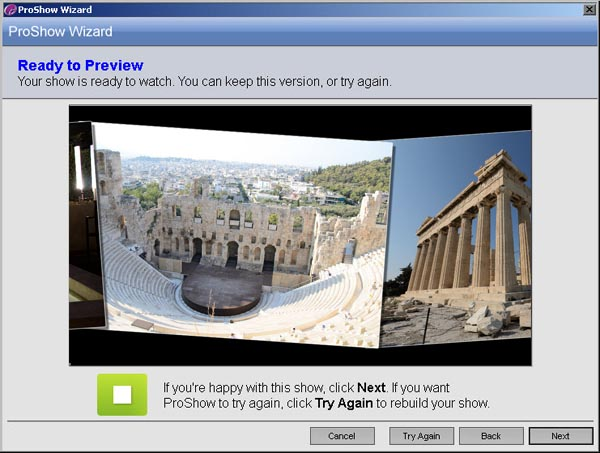 Photodex ProShow Gold 4.5 - Previsualizando el resultado