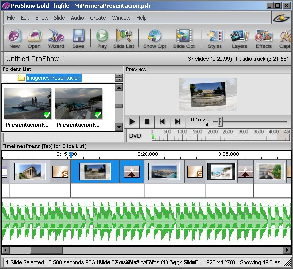 Photodex ProShow Gold 4.5 - El Interfaz
