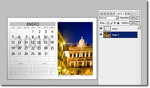 Calendario Photoshop 2009