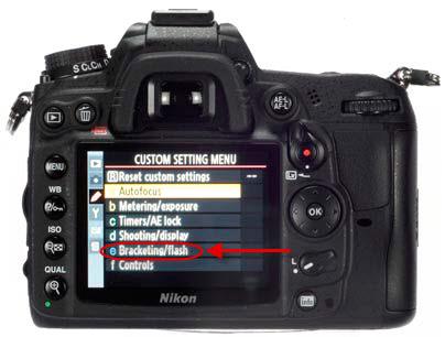Nikon D7000 - Menú Flash/Horquillado