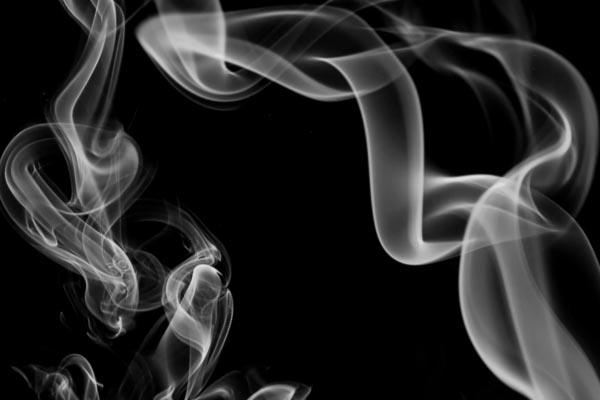 Imagen de humo invertida