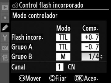 Modo controlador configurado