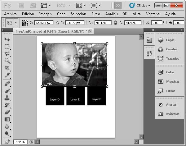 Plantilla Photoshop - Paso 3