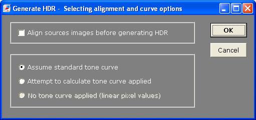 Photomatix - Parametros de fusion