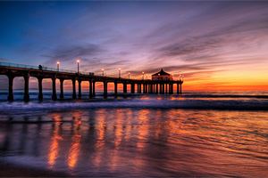 Manhattan Beach Pier por Pedro Szekely
