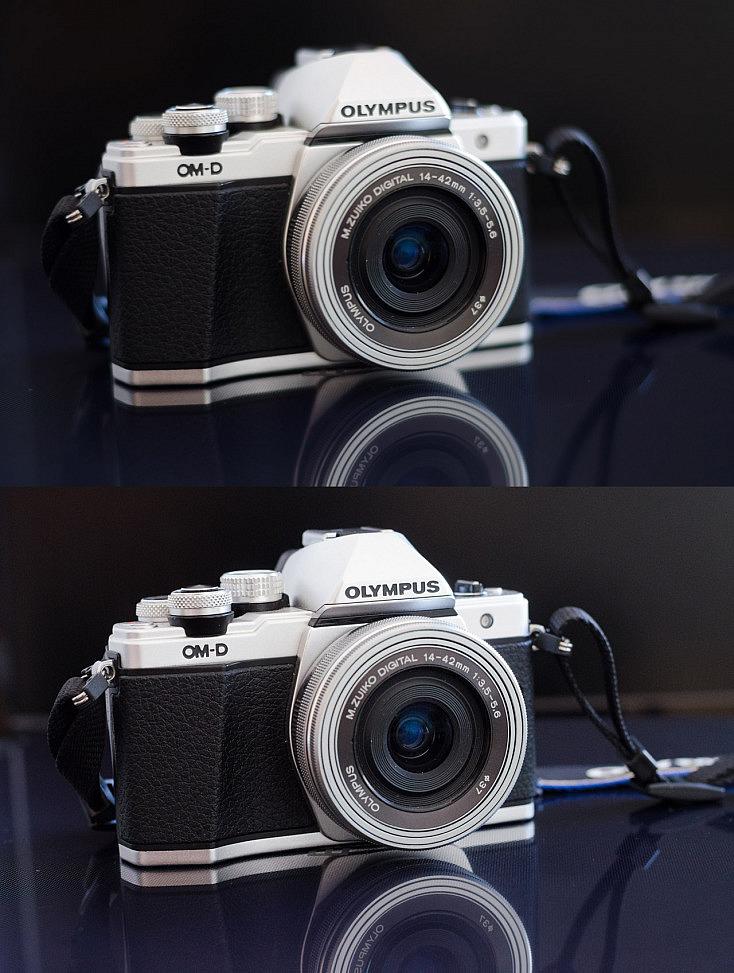 comparativa de foto con dos niveles de iso diferentes