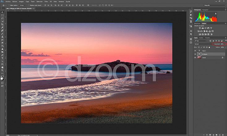 marca de agua en photoshop