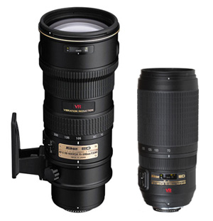 Nikon 70-200VRII vs Nikon 70-300VR
