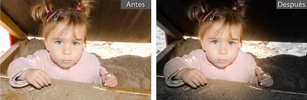 Filtro Radial: Antes y después