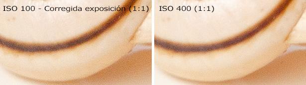 ISO - Comparación ISO Bajo corregido e ISO alto