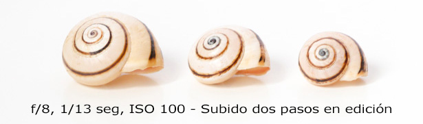 ISO - Subexpuesto con ISO 100