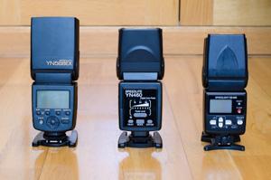 Yongnuo YN568EX, YN460 y SB-600