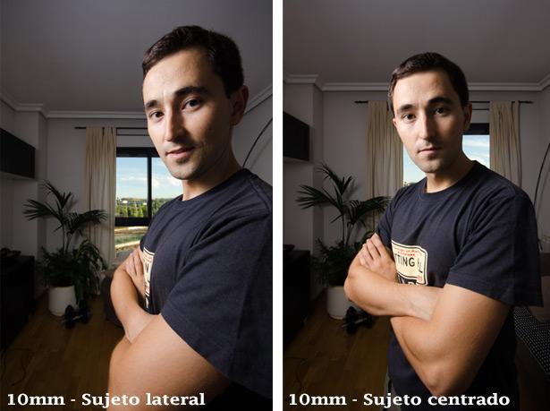 Retrato con objetivos gran angulares