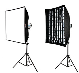 Softbox Vs Paraguas - Grid