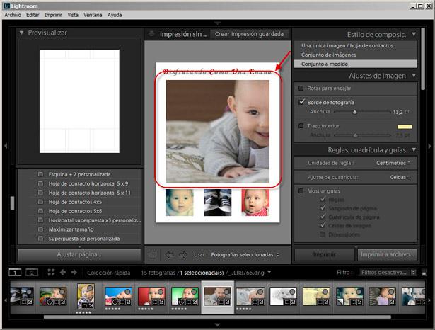Módulo Imprimir - Ajuste Imagen Zoom
