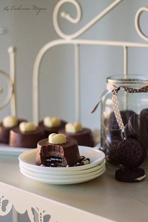 Pasteles de chocolate y oreo
