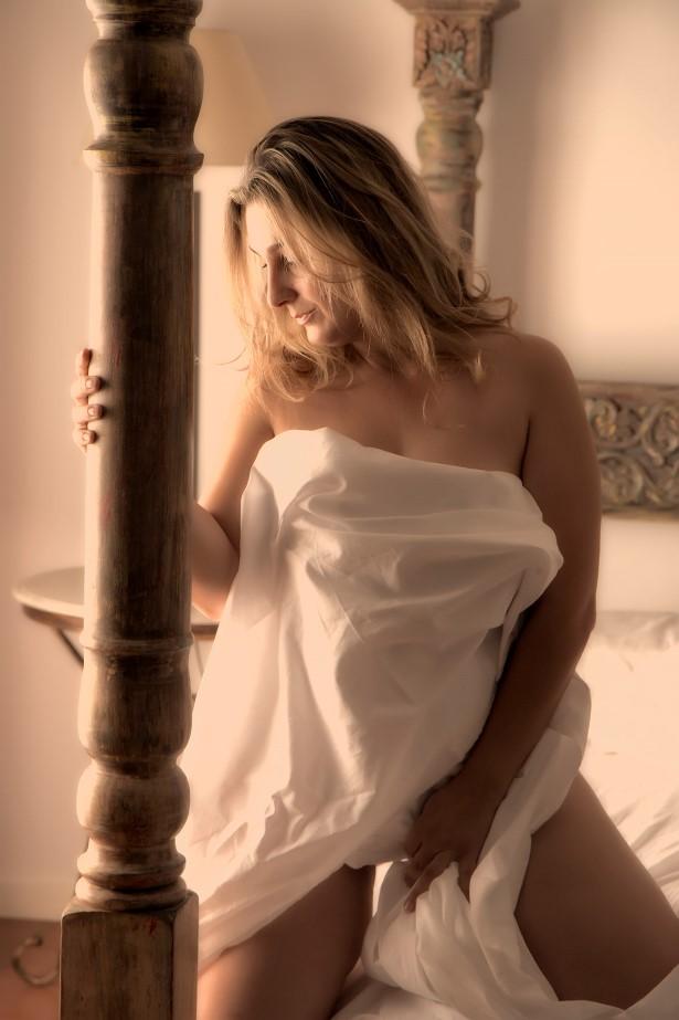 luz en sesion boudoir