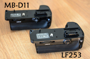 Comparación Grips (MB-D11 vs LF253)