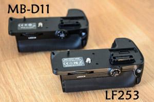 Comparación Grips (MB-D11 vs LF253)