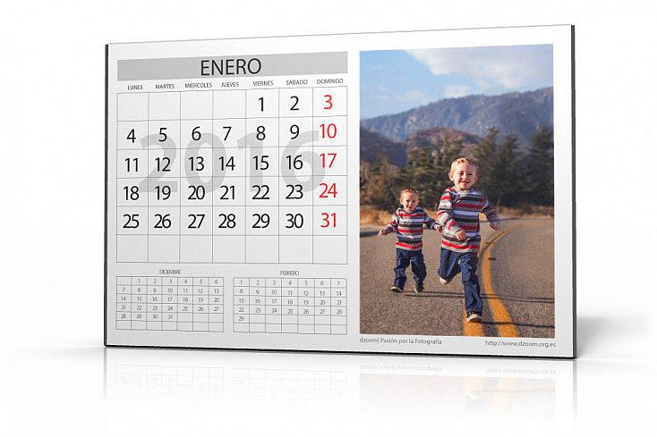 Sorprende Regalando los Calendarios Personalizados de dzoom: ¡Ya están Aquí! (año 2016)
