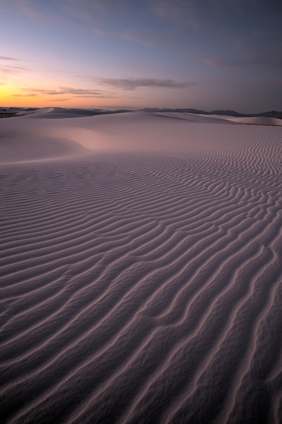 Example of Photoshop CS5: White Sands National Monument at Sunri