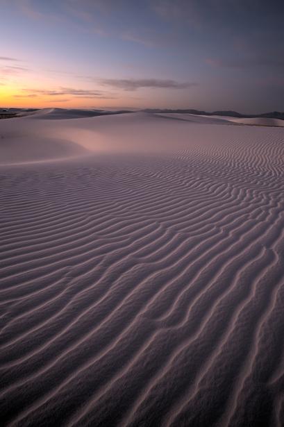 Example of Photoshop CS5: White Sands National Monument at Sunri