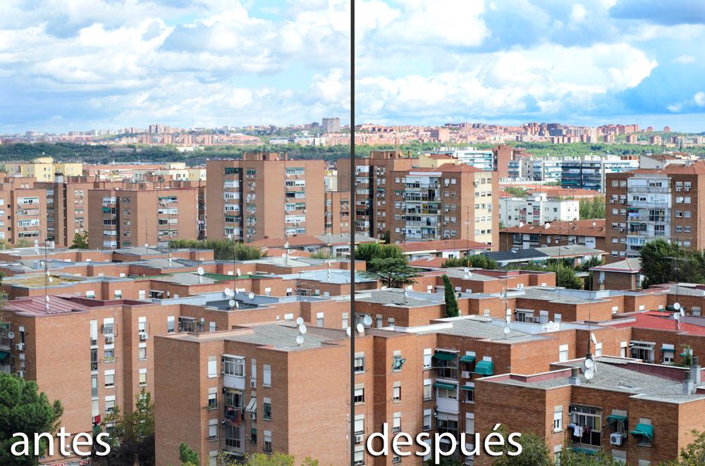 Control de contraste: Antes y después