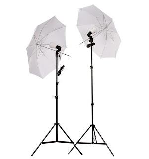 Trípode y paraguas