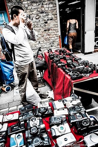 Market of Brick Lane in East London, England, UK