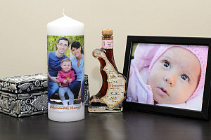 Transferir una foto a sobre una vela