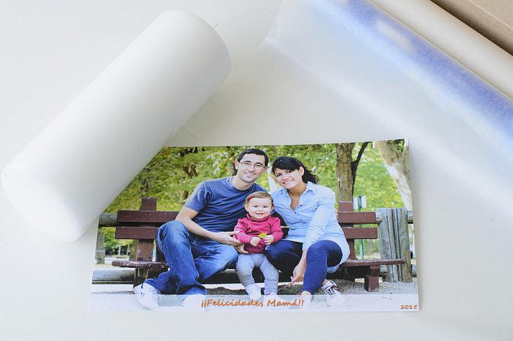 Vela, fotografía y papel parafinado