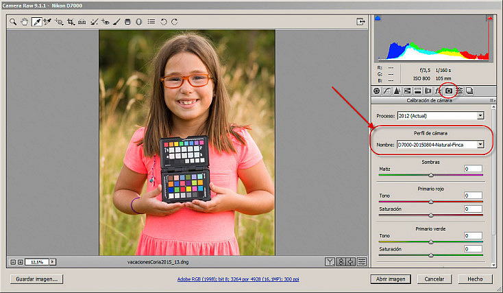 ColorChecker Passport con Adobe Camera Raw