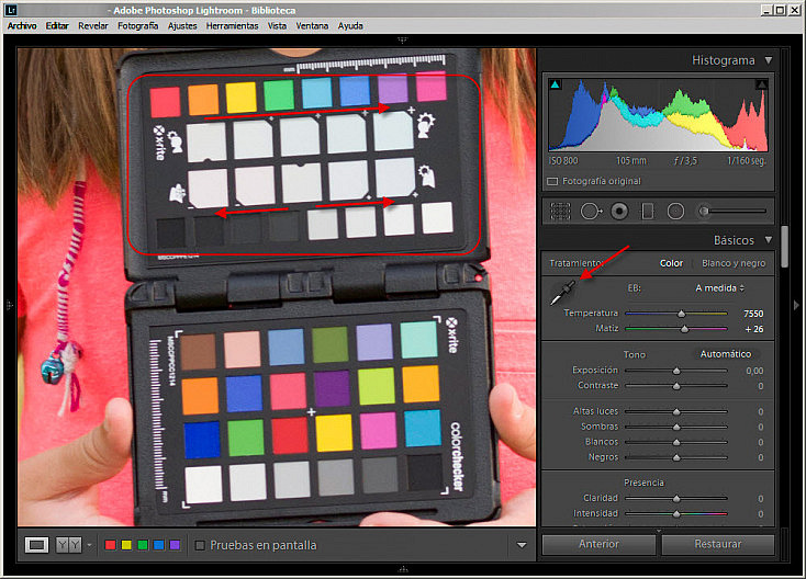ColorChecker Passport - Ajustes creativos